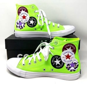 Converse Ctas High Top Green Gecko Canvas Women's